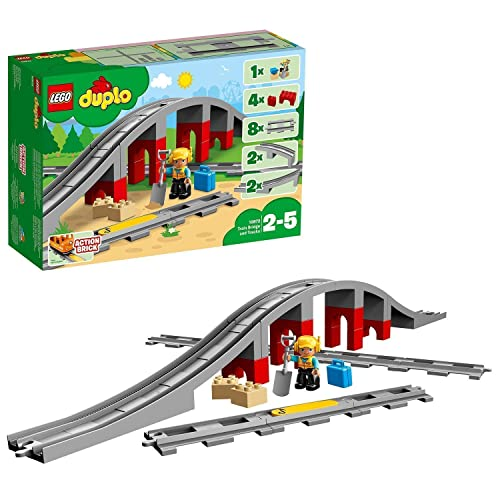 LEGO 10872 DUPLO Town Train Bridge and Tracks Building Set from LEGO