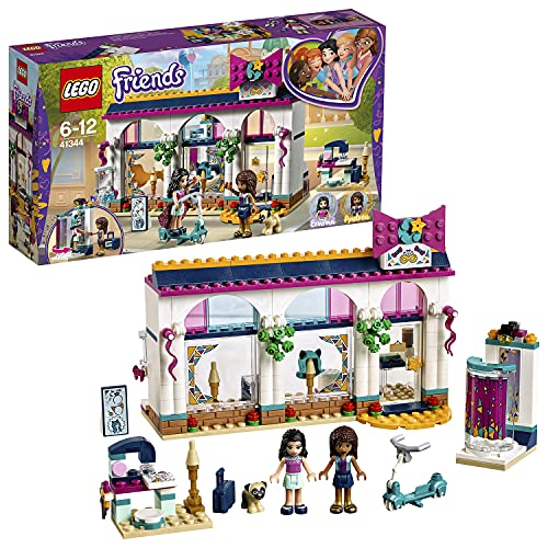 LEGO 41344 Friends Heartlake Andrea's Accessories Store Building Set, Andrea and Emma Mini Dolls, Doll Dress Up Set for Kids from LEGO