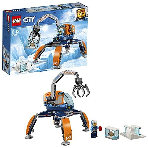 LEGO 60192 City Arctic Ice Crawler, Winter Expedition Vehicle Toy, Heavy Snow Crane Construction Sets for Kids from LEGO