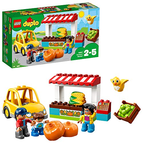 LEGO 10867 DUPLO Town Farmers' Market Set, Building Bricks Farm Toy for Kids Age 2-5 from LEGO