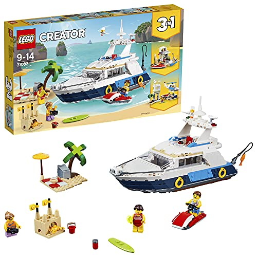 LEGO 31083 Creator Cruising Adventures Playset, 3 in 1 Model, Yacht, Beach House witth Boat, Helicopter Toys for Kids from LEGO
