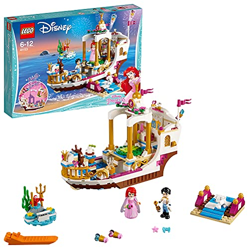 LEGO 41153 Disney PrInc.ess Ariel Royal Celebration Boat Toy, PrInc.e Eric and Ariel figures, Little Mermaid Building Sets for Kids from LEGO