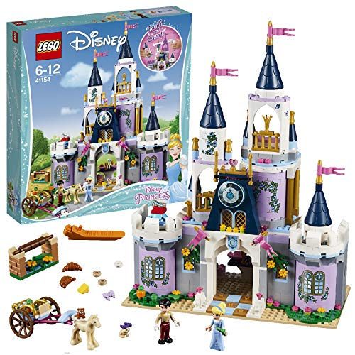 LEGO 41154 Disney Princess Cinderella's Dream Castle Toy, Prince and Cinderella Figures, Building Set for Kids from LEGO