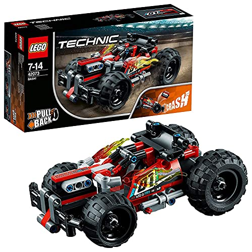 LEGO 42073 Technic BASH! Racing Car Toy, Powerful Pull-Back Motor, High Speed Action, 2 in 1 Advanced Building Set from LEGO