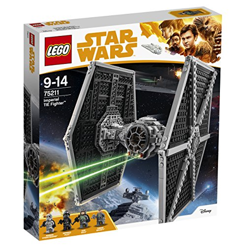 LEGO 75211 Star Wars Imperial TIE Fighter Building Set, Minifigures inc. Han Solo and Stormtrooper, Starfighter Toy from LEGO