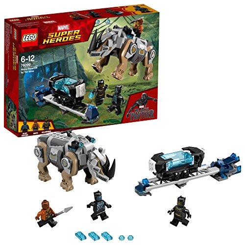 LEGO UK - 76099 Marvel Super Heroes Rhino Face-Off by the Mine Toy for Boys and Girls from LEGO