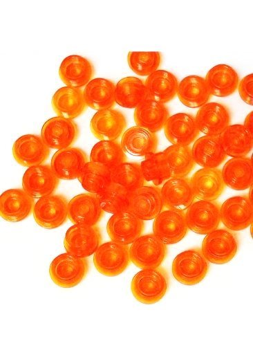 50 pieces LEGO Plate, Round 1 x 1 Straight Side trans orange from LEGO