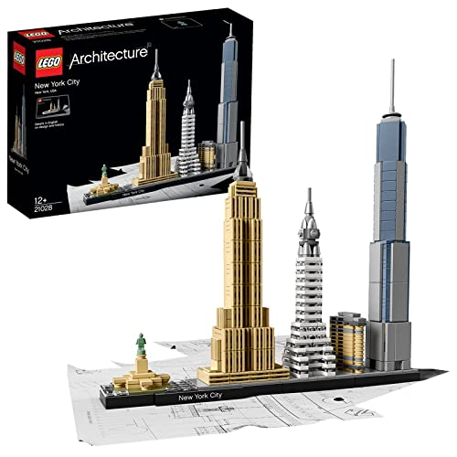 LEGO 21028 Architecture New York City Model Building Set, Skyline Collection with 4 Buildings and Minature Statue of Liberty, Construction Collectible Gift Idea from LEGO