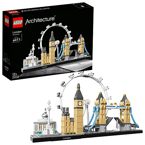 LEGO 21034 Architecture London Skyline Model Building Set, London Eye, Big Ben, Tower Bridge Collection, Construction Collectible Gift Idea from LEGO