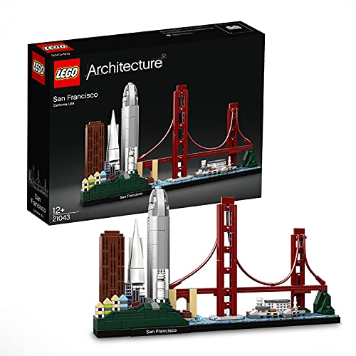 LEGO 21043 Architecture San Francisco Model Building Set with Golden Gate Bridge and Alcatraz Island, Skyline Collection, Construction Collectible Gift Idea from LEGO