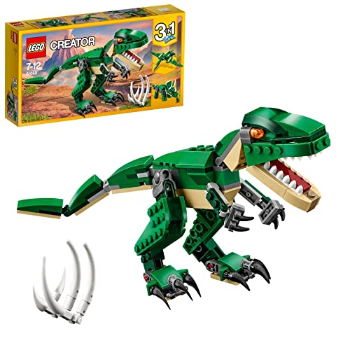 LEGO 31058 Creator Mighty Dinosaurs Toy, 3 in 1 Model, Triceratops and Pterodactyl Dinosaur Figures, Modular Building System from LEGO