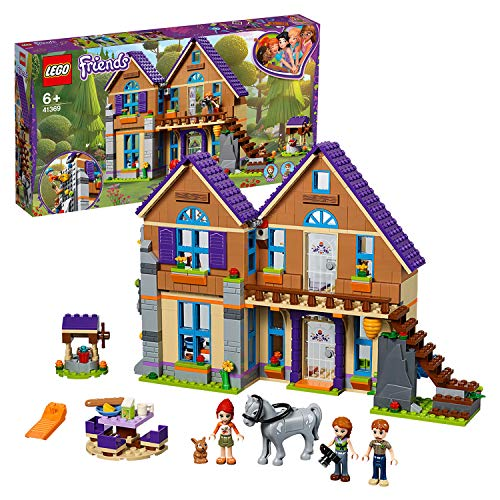 LEGO 41369 Friends Mia's House Set, 3 mini-dolls Rabbit and Horse Figures, Build and Play Dollhouse Toys for Kids, Multi-Colour from LEGO
