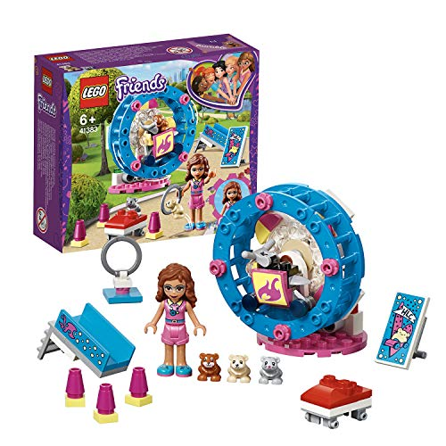 LEGO 41383 Friends Olivia's Hamster Playground Building Set, Olivia mini-doll and Hamster figure, Animal Toys for Kids from LEGO