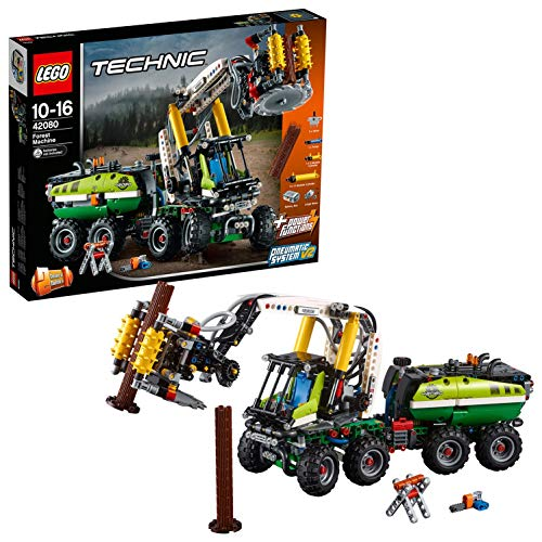 LEGO 42080 Technic Forest Machine Forklift Toy Truck, 2 in 1 Model, Power Functions Construction Set for Kids from LEGO