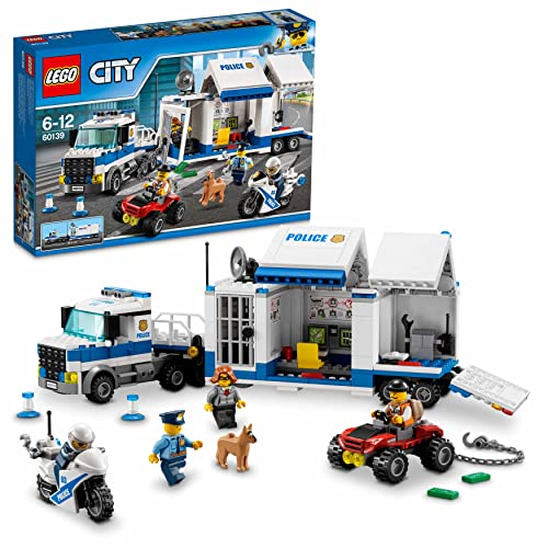 LEGO 60139 City Police Mobile Command Center Set, Truck Toy with Trailer and Motorbike, Jail Break and Chase Toys for Kids from LEGO