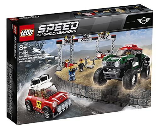 LEGO 75894 Speed Champions 1967 S Rally and 2018 Mini John Cooper Works Buggy Building Kit, Colourful from LEGO