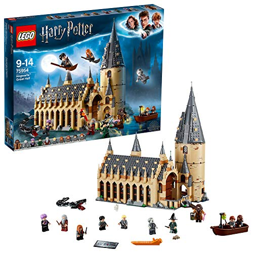 LEGO 75954 Harry Potter Hogwarts Great Hall Castle Toy, Gift Idea for Wizarding World Fan, Building Set for Kids from LEGO