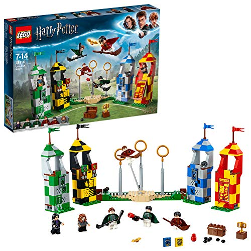 LEGO 75956 Harry Potter Quidditch Match Building Set, Gryffindor Slytherin Ravenclaw and Hufflepuff Towers, Harry Potter Toy Gifts from LEGO
