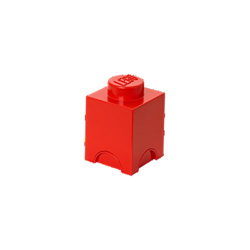 LEGO Brick 1 Knob Stackable Storage Box, Red, 1.2 Litre from Room Copenhagen