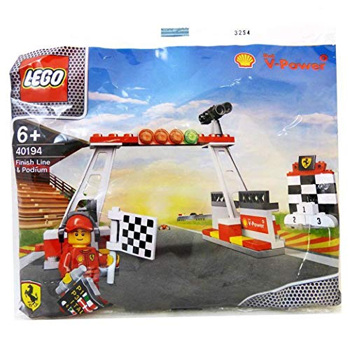 New Shell V-Power Lego Collection ~ Finish Line, Podium & Minifigure ~ 40194 from LEGO