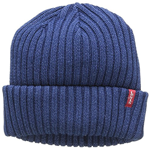 3a9c7932 Levi's Unisex Indigo Ribbed Beanie Beanie, Blue (Dark Blue), One size from.  found at Amazon