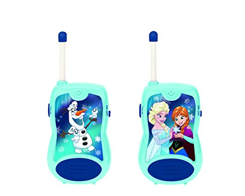 LEXIBOOK TW12FZ Disney Frozen 2 Elsa Anna Walkie-talkies, Communication Game for Children, Belt Clip for Transport, Battery, Blue from LEXIBOOK