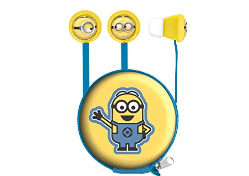 Lexibook Universal Despicable Me Minions Stereo Headphones, ear-tips included, 3.5mm jack, mic integrated, Blue/Yellow, HP008DES from LEXIBOOK