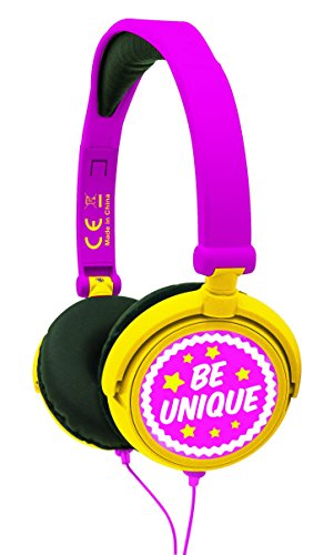 Lexibook Disney Soy Luna Stereo Headphone, kids safe, foldable and adjustable, pink / yellow, HP015SL from LEXIBOOK