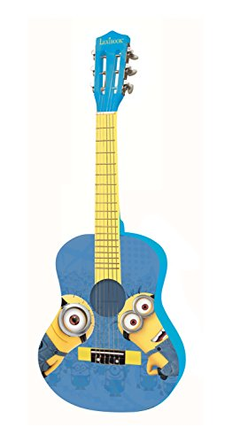 Lexibook Universal Despicable Me Minions Wooden Acoustic Guitar, Learning guide included, Blue/Yellow, K2000DES from LEXIBOOK