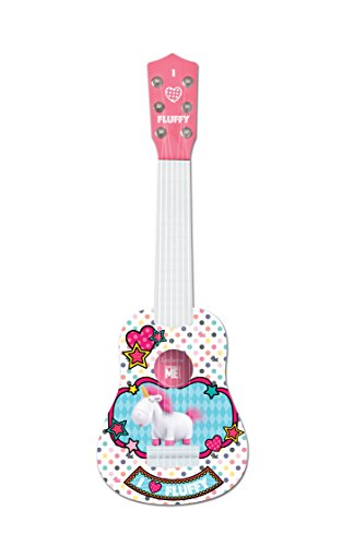 Lexibook Universal Despicable Me Agnès & Fluffy My first guitare, 6 nylon strings, 53 cm, guide included, Pink / White, K200DES1 from LEXIBOOK