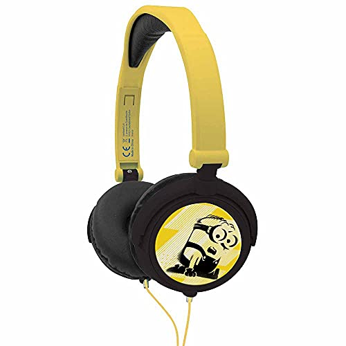 Lexibook Universal Despicable Me 3 Minions Stereo Headphone, kids safe, foldable and adjustable, yellow/black, HP010DES from LEXIBOOK