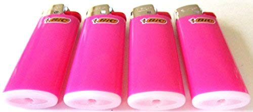 Bic Mini Hot Pink Lighters Lot of 4 from LIGHTERS