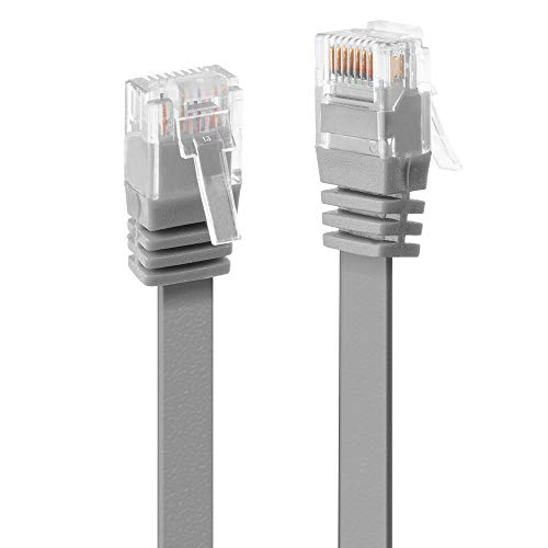 LINDY 10m CAT6 U/UTP Flat Gigabit Network Cable, Grey from LINDY