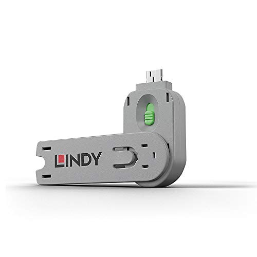 Lindy 40621 Key for USB Port Lock Green from LINDY