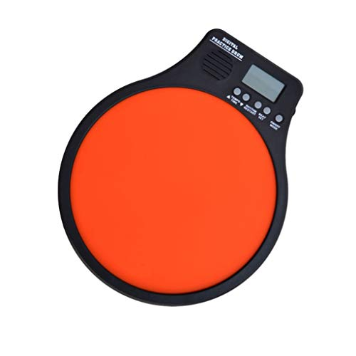 LIUFS-Drum Set Drum 10 Inch Hit Pad Electronic Metronome Dumb Drum With Drum Bag (color : ORANGE-Dumb drum) from LIUFS-Drum