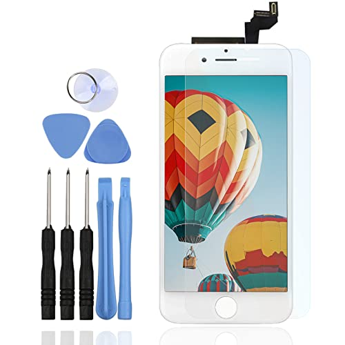 LL TRADER for iPhone 6s LCD Touch Screen Replacement Display Digitizer Assembly + Frame + Repair Tool Kits (White 4.7 inch) from LL TRADER
