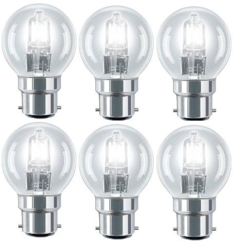 6 Eco Halogen Golf Ball 28w Equivalent 40w Dimmable Halogen Energy Saving Golf Ball Light bulbs from LLLC