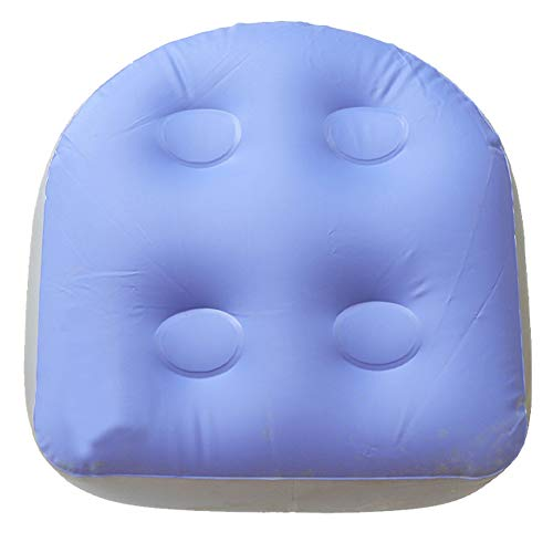 Spa Cushion Inflatable Bathtub Pillow Home Spa Accessories Soft Hot Tub Booster Seat Massage Mat Back Pad Relaxing for Adults Kids(Blue) from LNIMIKIY