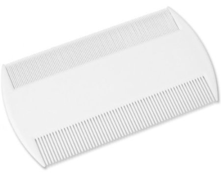 4 x White Durable Double Sided Nit Combs for Head Lice Dectection Comb with Holder (also ideal for Pet Flea) its removes Nits, Lice and Fleas and eggs i.e. Grooming Hair Comb Fine Toothed Headlice Comb from LP