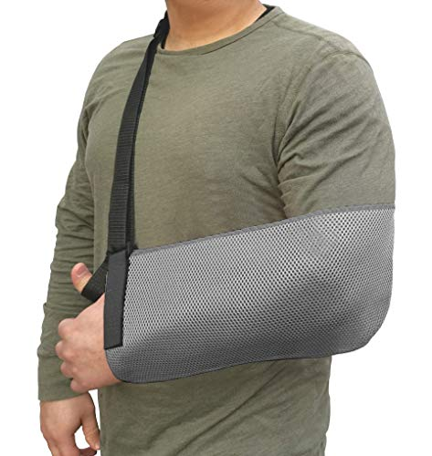 LTG PRO® Arm Sling Wrist Shoulder Support Immobilizer Elbow Injury Fracture Cast (Grey - Mesh) from LTG PRO