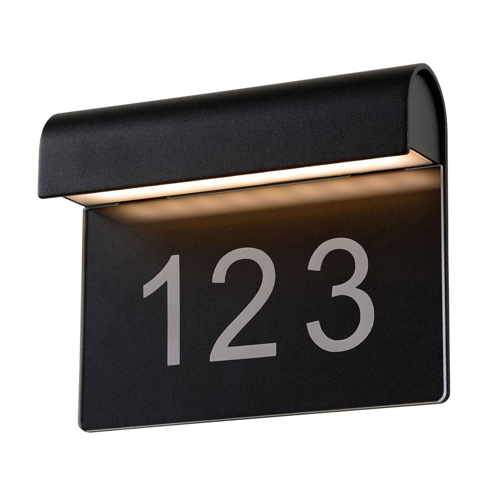 LED house number light Thesi, black from Lucide