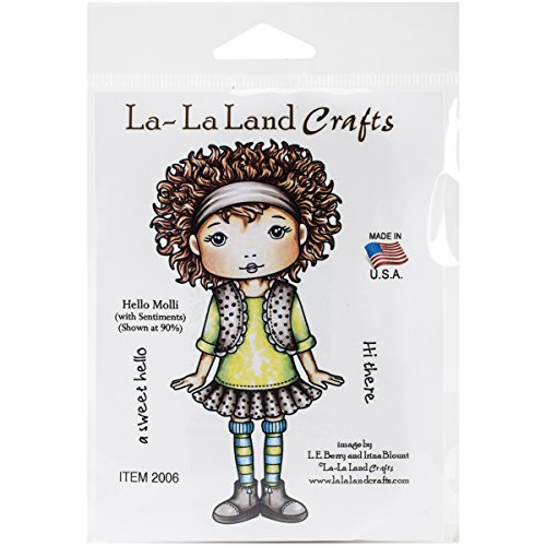 La-La Land Crafts Rubber Cling Stamps 4.75-Inch x 2.25-Inch-Hello Molli from La-La Land Crafts