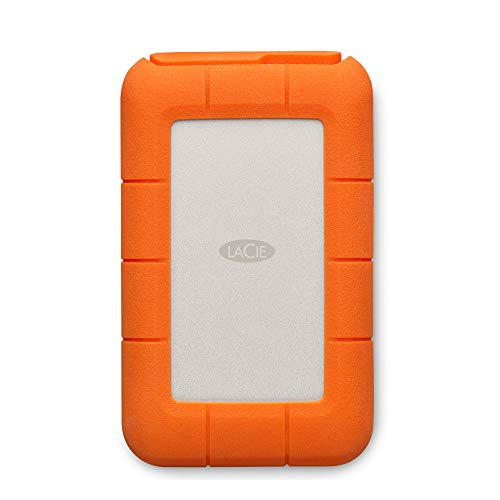 LaCie STFR1000800 1 TB Rugged Mini USB 3.1 (USB-C + USB 3.0) Portable 2.5 Inch Shock, Drop and Crush Resistant External Hard Drive for PC and Mac from LaCie