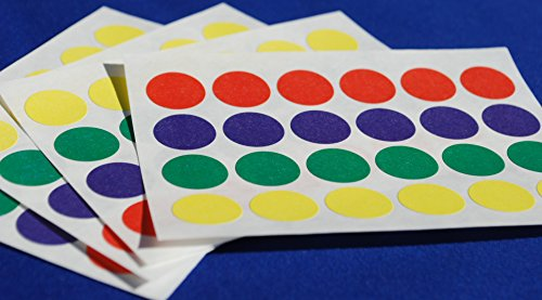 1200 STICKY COLOURED DOTS 16mm LABELS DOTS ROUND CIRCLES SELF ADHESIVE ASSORTED COLOURS > 50 Sheets from Labels4u