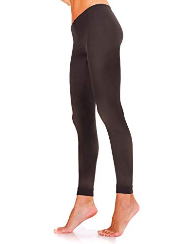 Lady Sofia 60 Denier Classic Opaque Microfibre FOOTLESS Tights (M, Black) from Lady Sofia