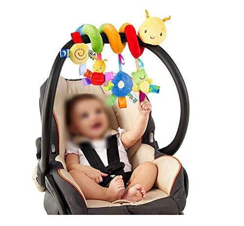 Lalang Baby Kids Spiral Activity Hanging Toys Stroller Toy Car Seat Bed Hanging Toys (Insects) from LALANG
