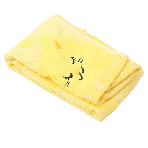 LALANG Kids Face Cloth Soft Washcloths Cute Cat Hand Face Towel (yellow) from LALANG