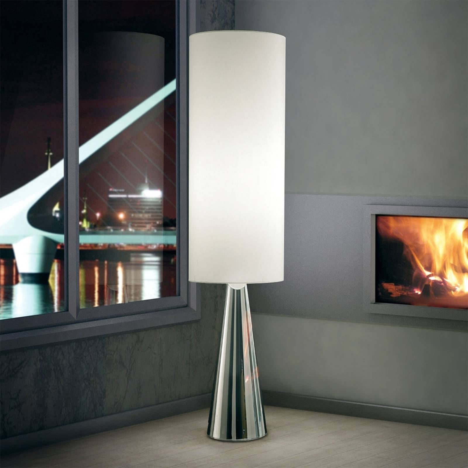Cylindrical floor lamp Totem from LAM
