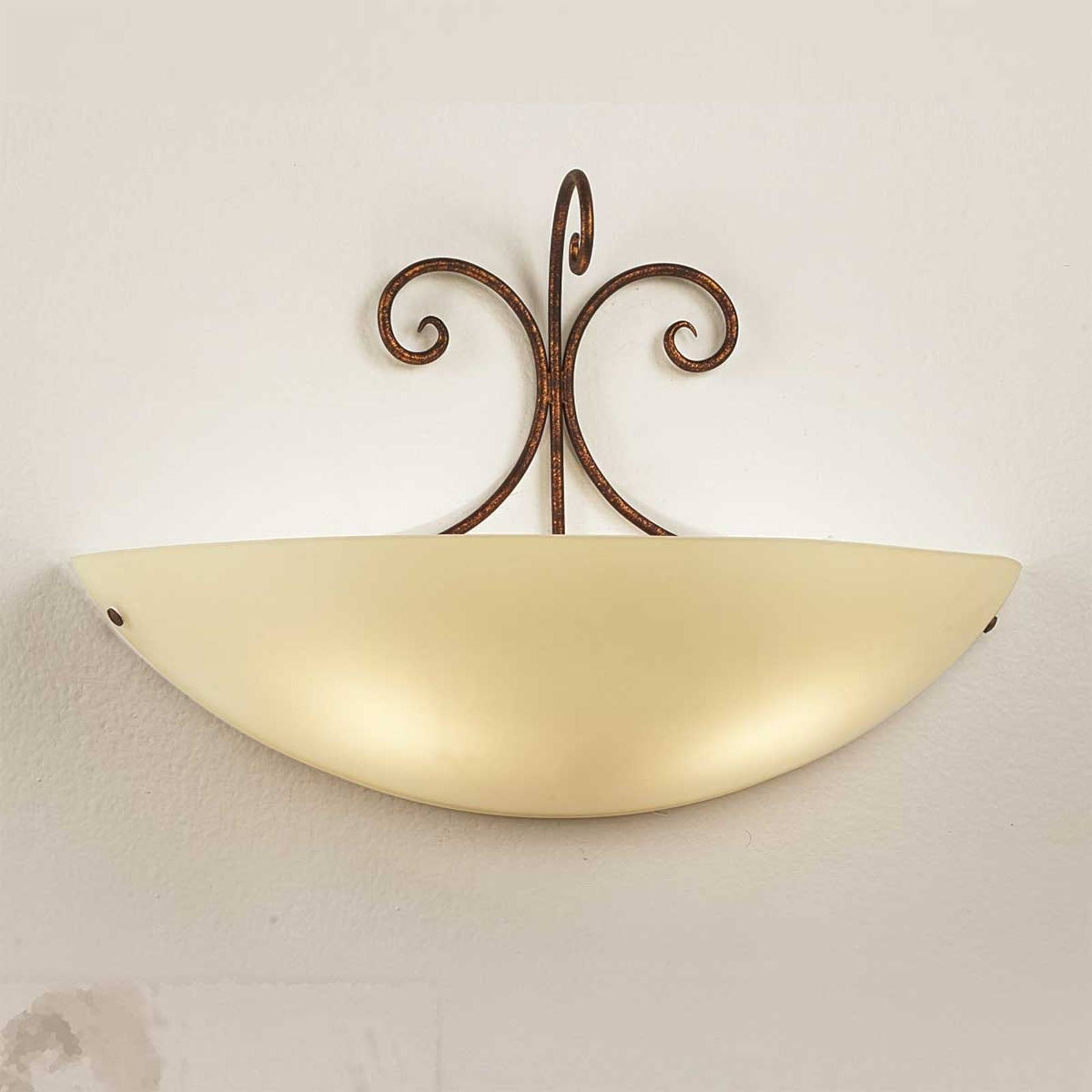 Federico wall light with antique brown metal from Lam