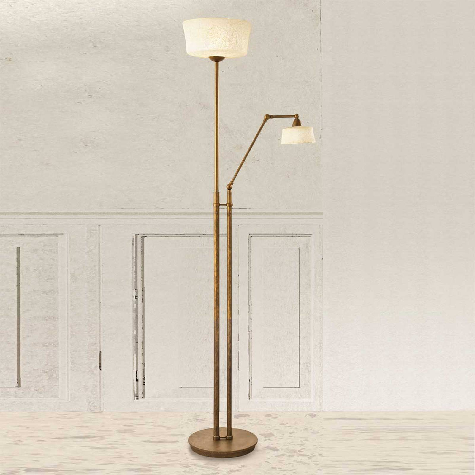 Floor lamp Alessio with reading arm from LAM